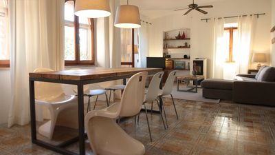 Photo for Modern-maritime apartment with sea views, 50 m to the beach, WIFI, AC, BBQ