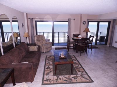 Photo for Beautifully Updated 2-Bdrm/2-Bath Deluxe Direct Oceanfront Corner Unit