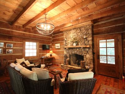 Photo for Stunning Rebuild 1820`s Cabin in Pisgah Forest