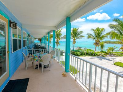 Photo for Hurricane Dorian did NOT hit Exumas. Large BEACHFRONT house with 2 master suites