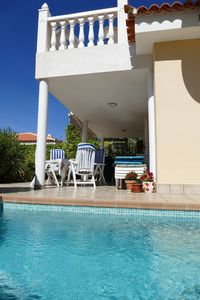 Photo for Villa with heated pool and sun terrace with sea view