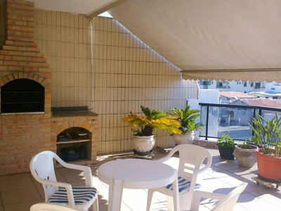 Photo for CARNAVAL Penthouse Duplex 450m from Praia do Forte + Barbecue Area + WI FI +2 vacancies