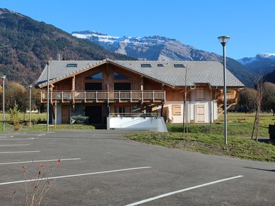 Photo for 2 bedroom plus mezzanine Apartment in a Chalet in Samoens