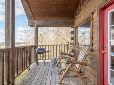 Photo for Studio cabin with pool table, hot tub and exquisite mountain views