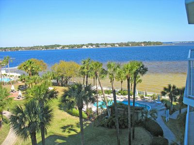 From Osprey #505 you can see beautiful Choctawhatchee Bay & the pvt Osprey pool.