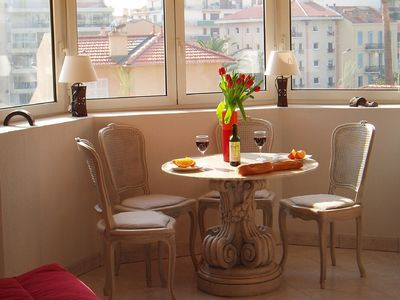 Photo for Bright one-bed apartment in Cannes - with air-con and a balcony