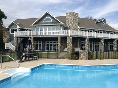 Photo for Resort-style Lake Norman home with unbeatable views from shore and pool!