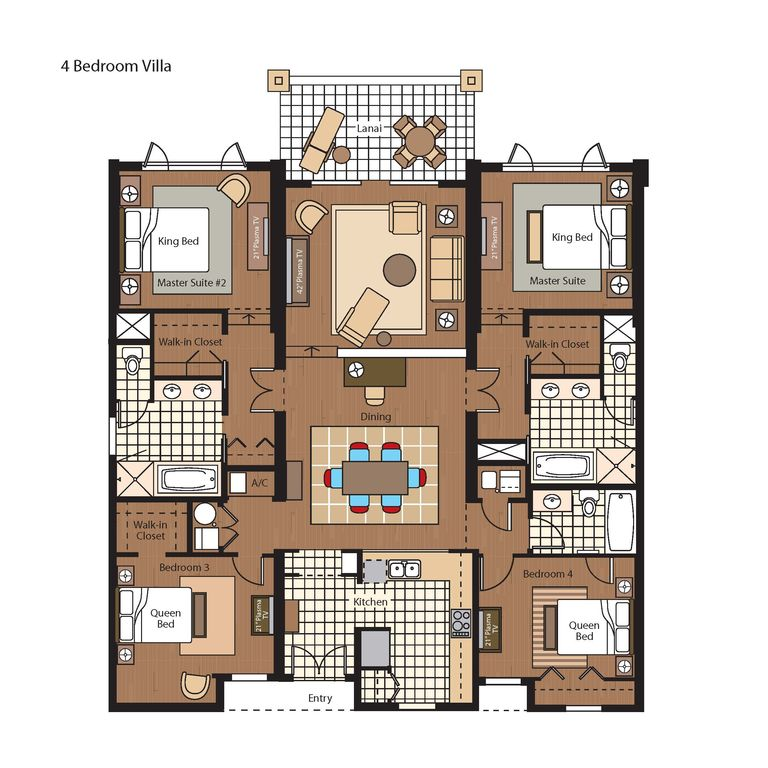 4 bedroom villa floor plans home plans ideas for 4 bedroom villa designs