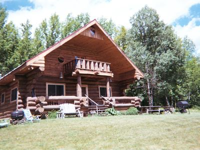 Photo for Rustic Log Home, Pond and Stream, Near Ski Mtns, Great Prices