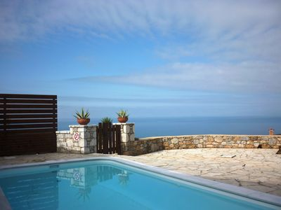 Photo for Villa Phoebe in Stoupa, very quiet area, private pool, spectacular sea views