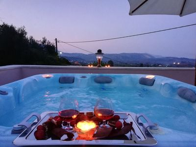 Photo for Luxurius Villa with private POOL and outdoor Heated JACUZZI For 7 persons