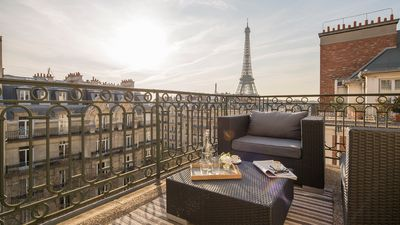 Sip a café or a cocktail on the luxurious balcony and enjoy the amazing views