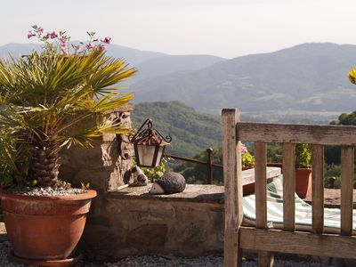 Photo for Secluded relaxing hilltop cottage view and pool ideal for families or 2 families