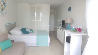 Photo for Beautiful Studio located in the heart of Gosier, direct beach access