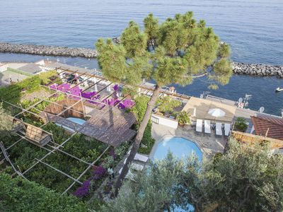 Photo for Villa Acquamarina with Private Pool, Sea View, Direct Sea Access and Parking