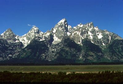 View of the Teton Range from near the picnic table. (Photo by Daryl Gibson)