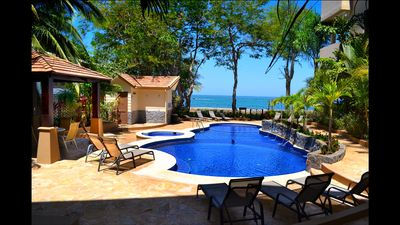 Photo for Beachfront~Poolside~Incredible Ocean&Sunset View~Ground Flr~Secure~Families