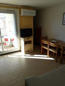 Photo for T 3 air-conditioned, renovated 50 m from the beach mole and cliffs CAP d'AGDE