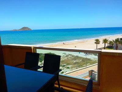 Photo for Front Line Beach Apartment With WIFI, Stunning Sea and Beach Views
