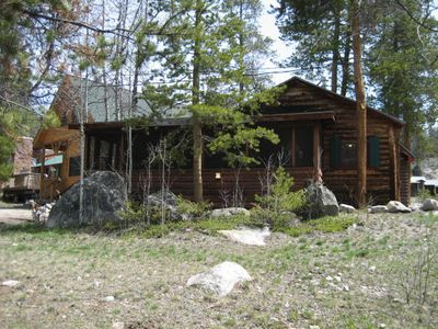 Photo for Adorable and Pet Friendly Grand Lake Cabin! Walk Everywhere! Firepit too!