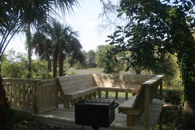 Rear deck overlooking marsh