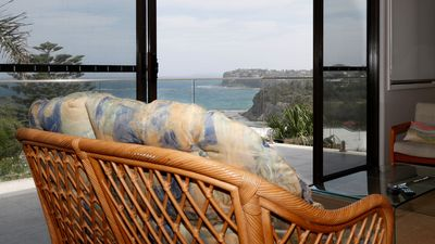 Upstairs lounge room at Avalon Beach Lookout