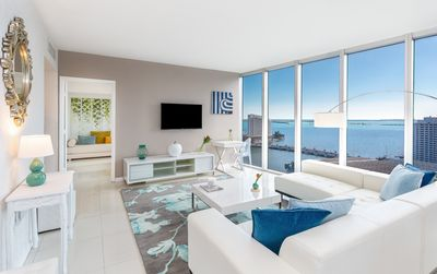 Photo for UNOBSTRUCTED OCEAN & CITY VIEW, NEW DESIGN W RESIDENCES. FREE:POOL/SPA/GYM/WI-FI