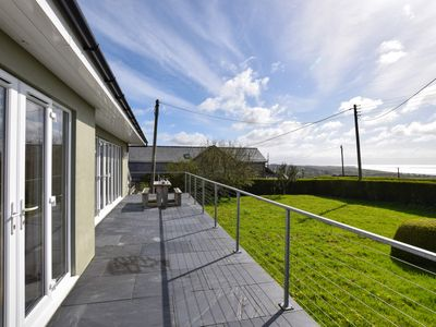 Photo for Sea views, woodburner and within a mile of the Wales Coast Path, sandy beaches and Pwllheli Marina.