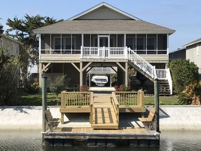 Photo for Waterfront Canal Home, Short Walk To Beach, Dock With Access To I C W And Ocean