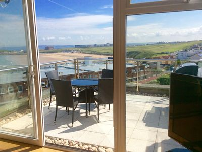 Photo for Holiday Home In Cornwall - Fistral View Holiday Home