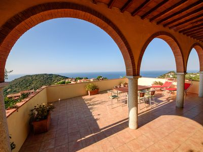Photo for Country house Gabbiola / 180 ° sea view / sunset / apartment 70 sqm