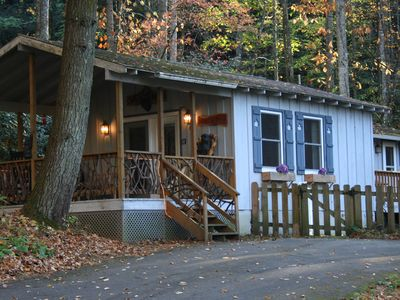 Photo for On Babbling Brook - Fenced - Hot Tub - Gas Fireplace. Pets OK - June SALE!