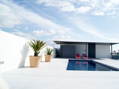 Photo for Central Apartment with Sea View, Roof Top Terrace with Pool, a Balcony and Wi-Fi