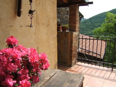 Photo for Large Stone Valley Top Rural Retreat.Terraces. Pool&River. Sleeps 5/12 max 20