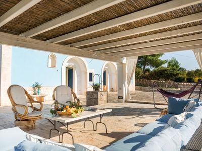 Photo for Trullo - private salt water pool - walk distance to town - concierge-watch video
