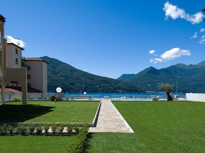 Photo for Lake Maggiore apartment with pool