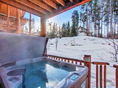 Photo for Townhome Perched Above WP | Private Hot Tub | Tranquil Setting | Sleeps 10