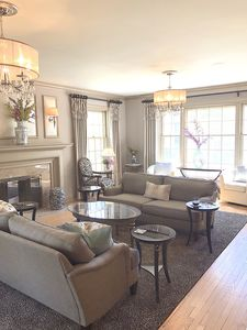 With a living room, family room, and den, you have many seating areas to enjoy.