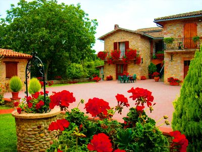 Photo for Farmhouse in Umbria in Gubbio apartments with pool with rooms apartments