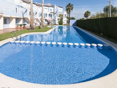 Photo for BULLENT - Chalet with shared pool in Oliva Nova.