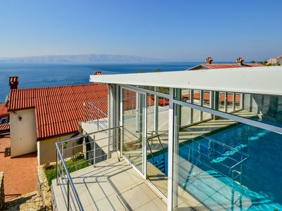 Photo for This 3-bedroom villa for up to 7 guests is located in Senj and has a private swimming pool, air-cond