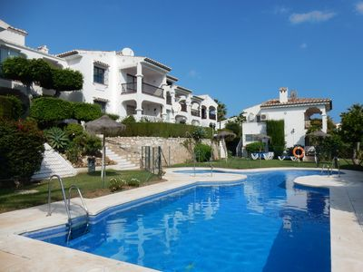 Photo for Apartment (2 Bedrooms/2 Bathrooms/New Kitchen/Air Con/Pool/Gardens/Sea Views)