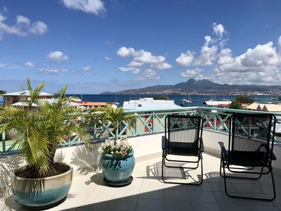 Photo for Nice flat T3, last floor with elevator, beach with 100m = SUPERB VIEW