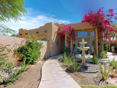 Photo for Spanish-style charmer w/ a private pool, spa, & mountain views - dogs welcome!