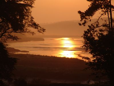 Early morning sun rise over the Pembrokeshire  water ways