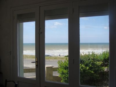 Photo for APARTMENT IN RDC IN FRONT OF SEA ON ESPLANADE OF THE BEACH