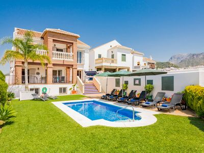 Photo for Villa Fuente Frigiliana - stunning sea views! With pool, Wi-Fi, A/C, & ping-pong