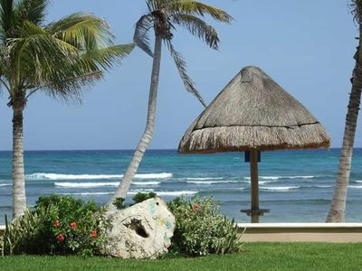 Terrace/Patio View #1 - Only 10 Steps to Beach - Palapas on Beach for Your Use!