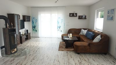 Photo for Relaxation in all seasons - spacious modern apartment with sauna