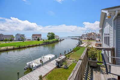 Enjoy sweeping Views of Chincoteague Bay and the Canal.